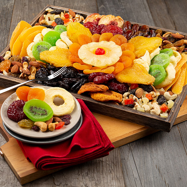 Image 0 of Dried Fruit & Nut Platter: Gourmet Gift Tray