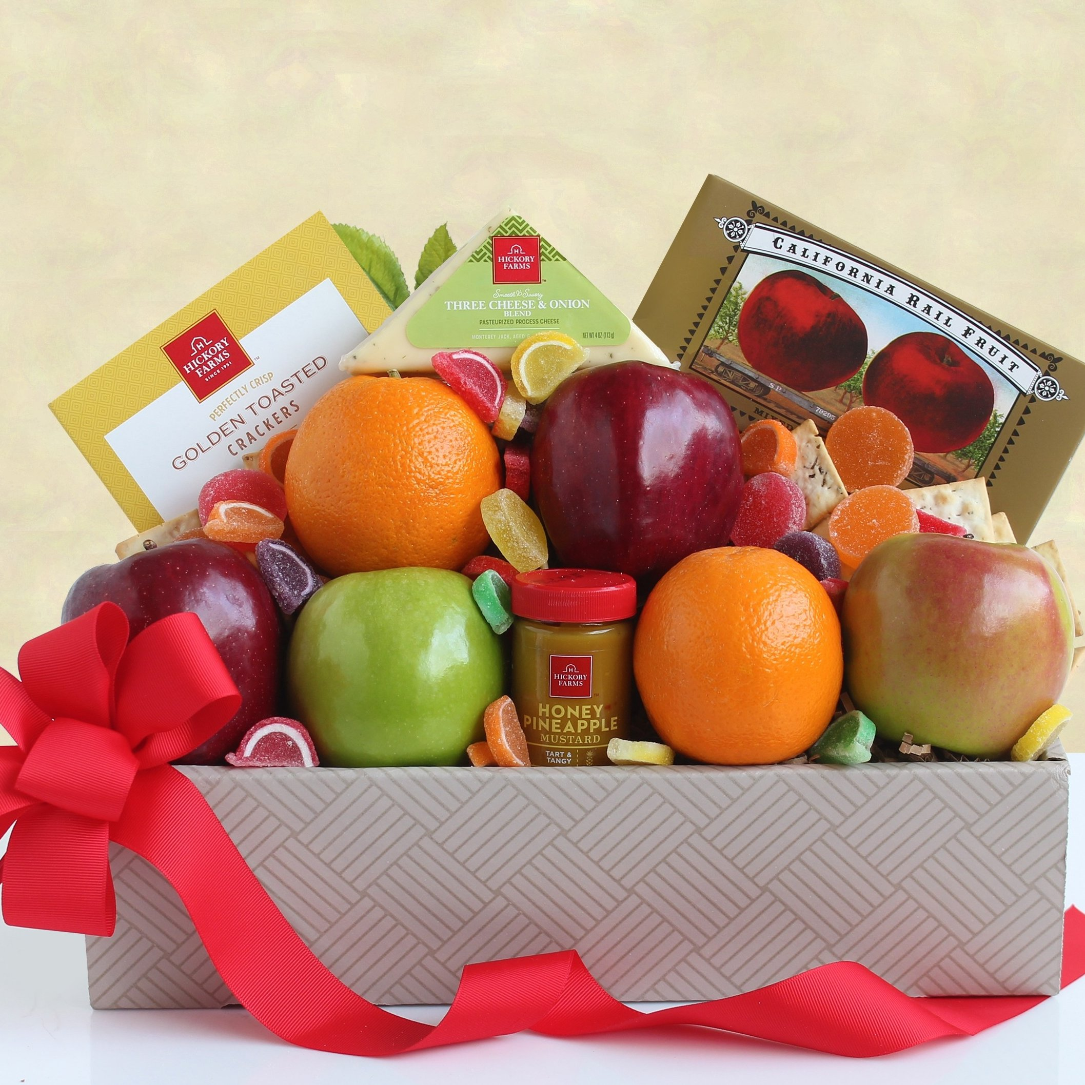 Image 0 of Harvest Goodness: Fruit and Cheese Box