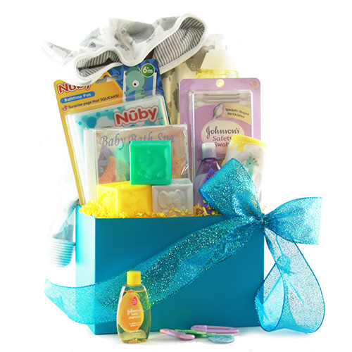 Image 0 of Bath Time: Baby Gift Basket - Choose Boy, Girl or Neutral