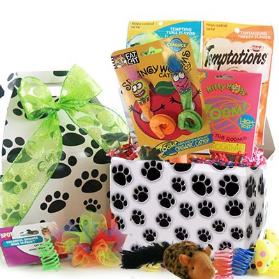 Image 0 of The Cat's Meow: Pet Cat Gift Basket