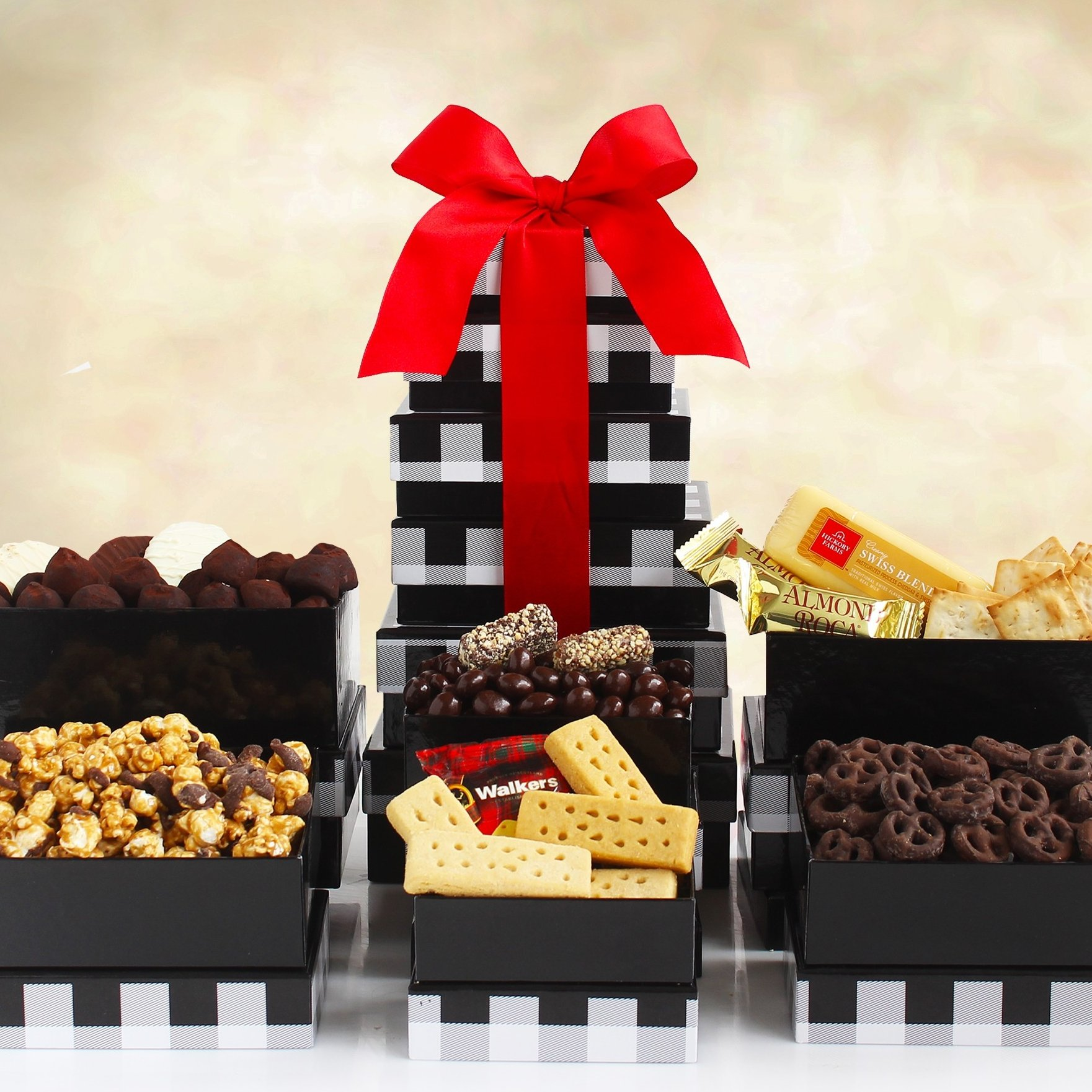 Image 0 of Holiday Elegance: Festive Gift Tower