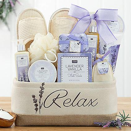 Image 0 of Relax & Enjoy: Lavender Vanilla Spa Gift Basket