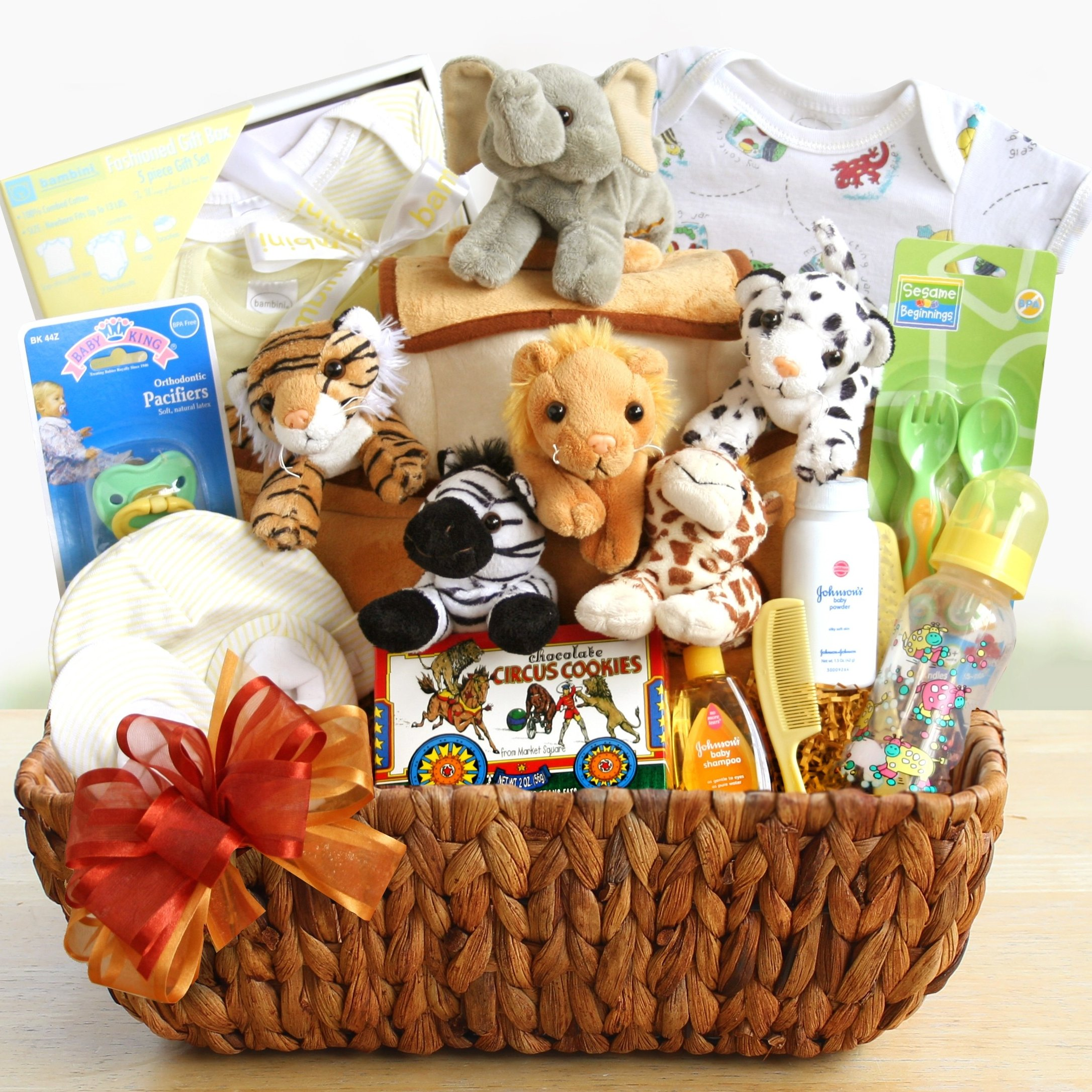 Image 0 of Noah's Ark: Neutral Baby Gift Basket