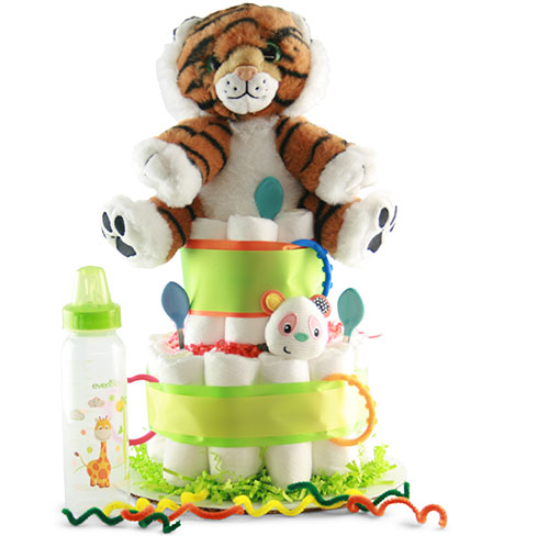 Image 0 of Wild One: Baby Diaper Cake - Choose Boy, Girl or Neutral