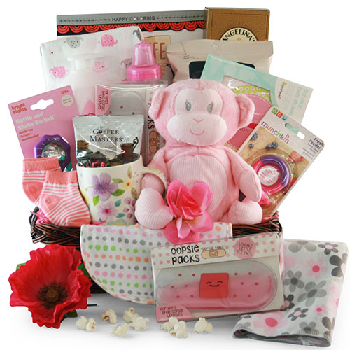 Image 0 of Baby Essentials: Baby Gift Basket - Choose Boy, Girl or Neutral