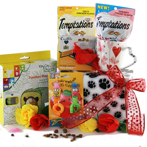 Image 0 of For the Love of Cats: Pet Cat Gift Basket