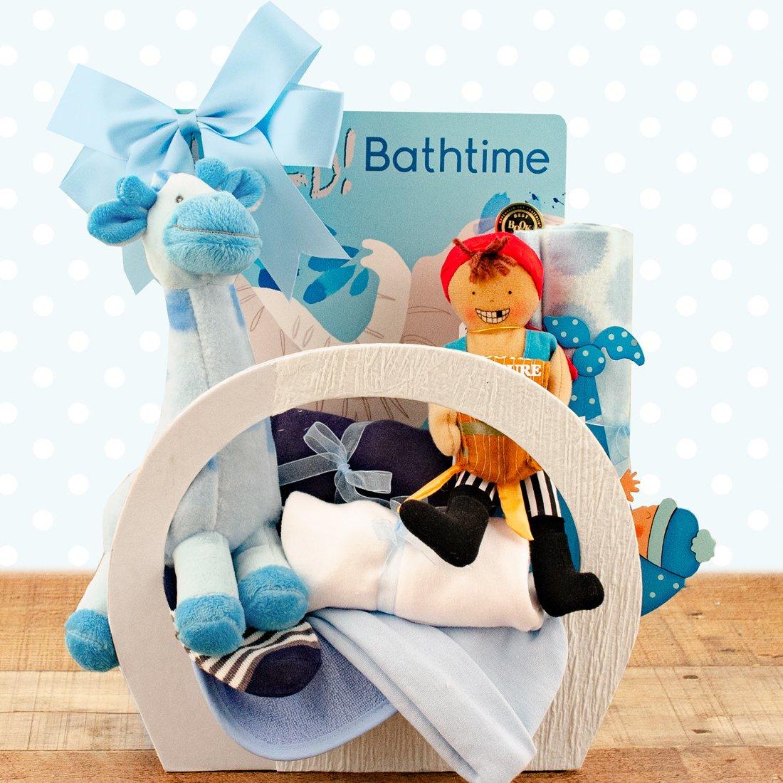Image 0 of Baby Essentials: Baby Boy Gift Basket