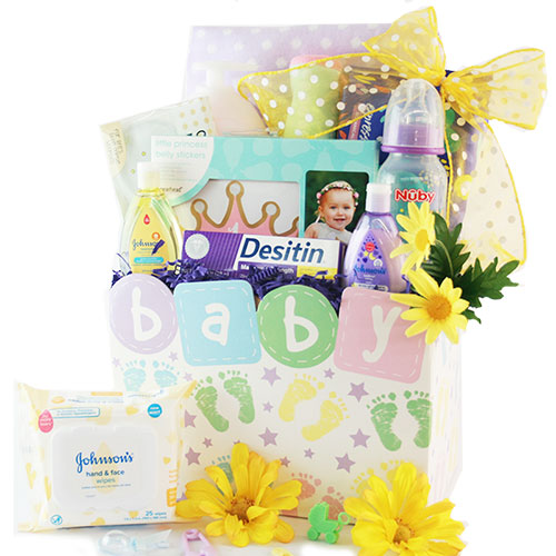 Image 0 of The Tiny Traveler: Baby Gift Basket - Choose Boy, Girl or Neutral