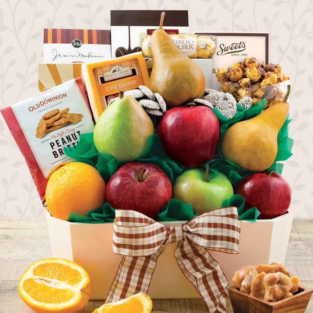 Image 0 of Orchard's Abundance: Fruit & Snacks Gift Basket