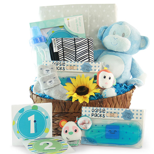 Image 0 of Our Little Monkey: Baby Gift Basket - Choose Boy, Girl or Neutral