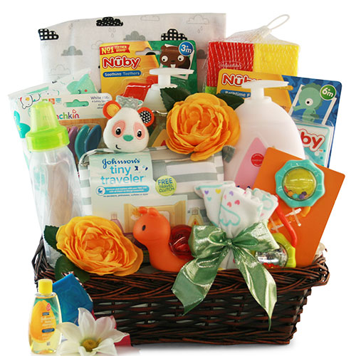 Image 0 of Sophisticated Baby: Baby Gift Basket - Choose Boy, Girl or Neutral