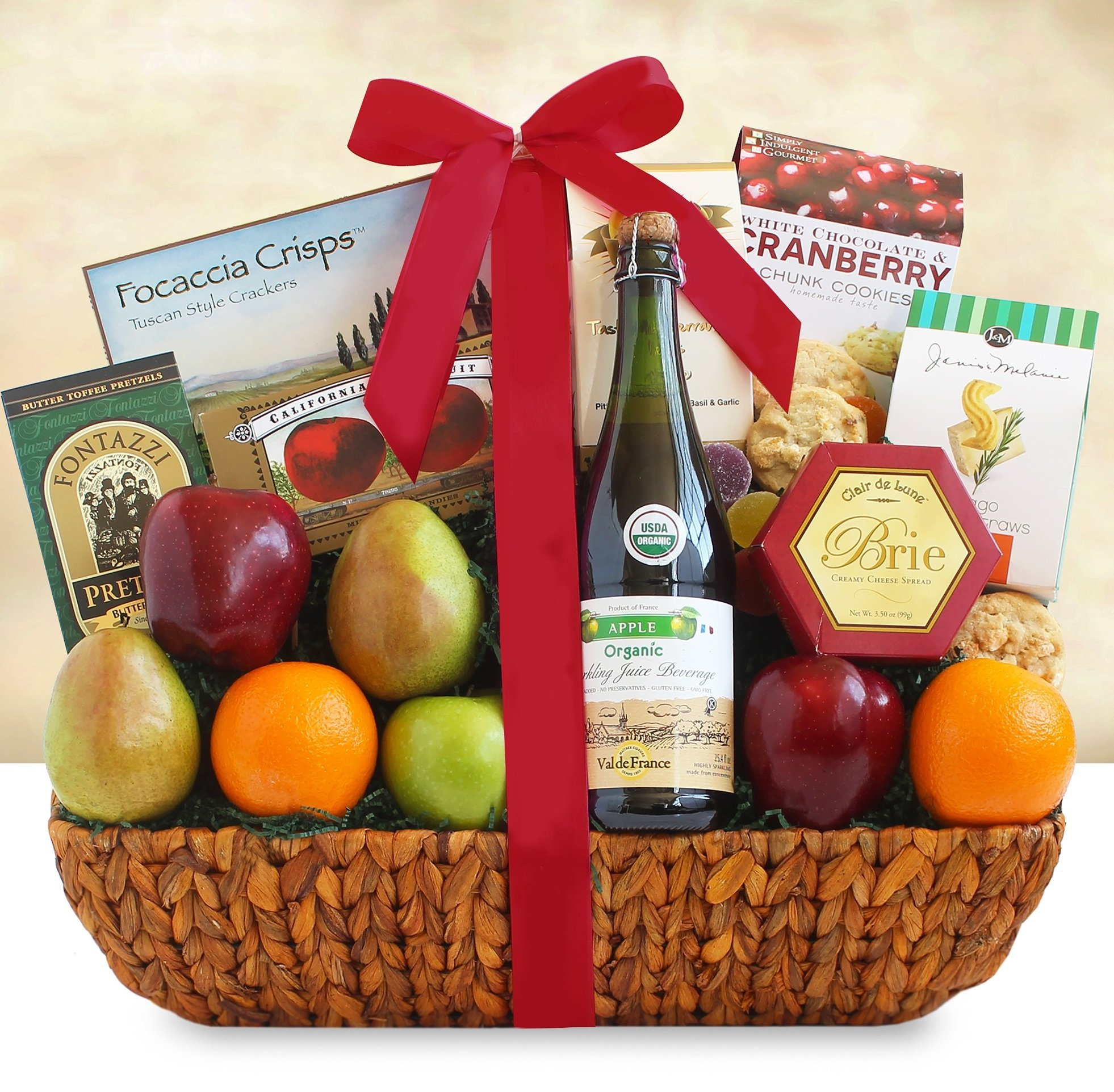 Image 0 of Share the Health: Fruit & Healthy Snacks Gift Basket