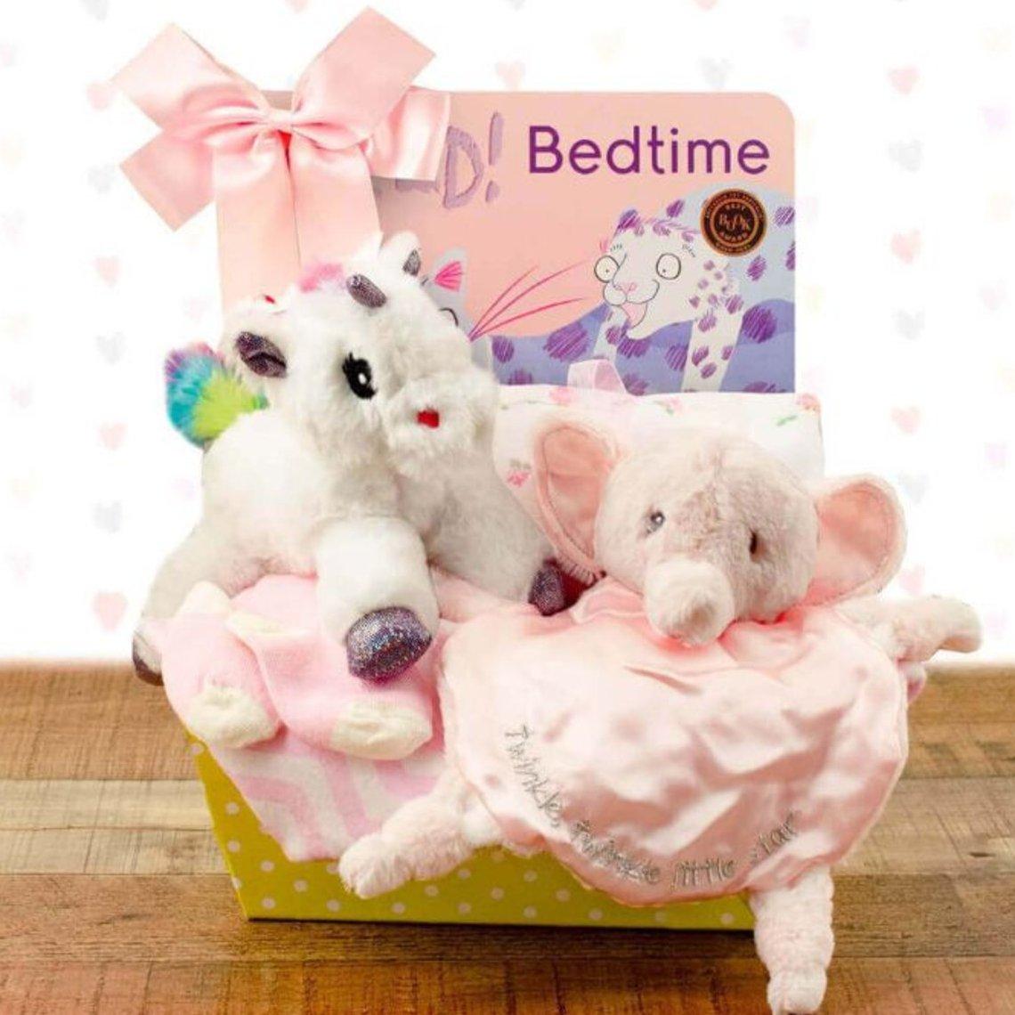 Bedtime Baby: Baby Girl Gift Basket