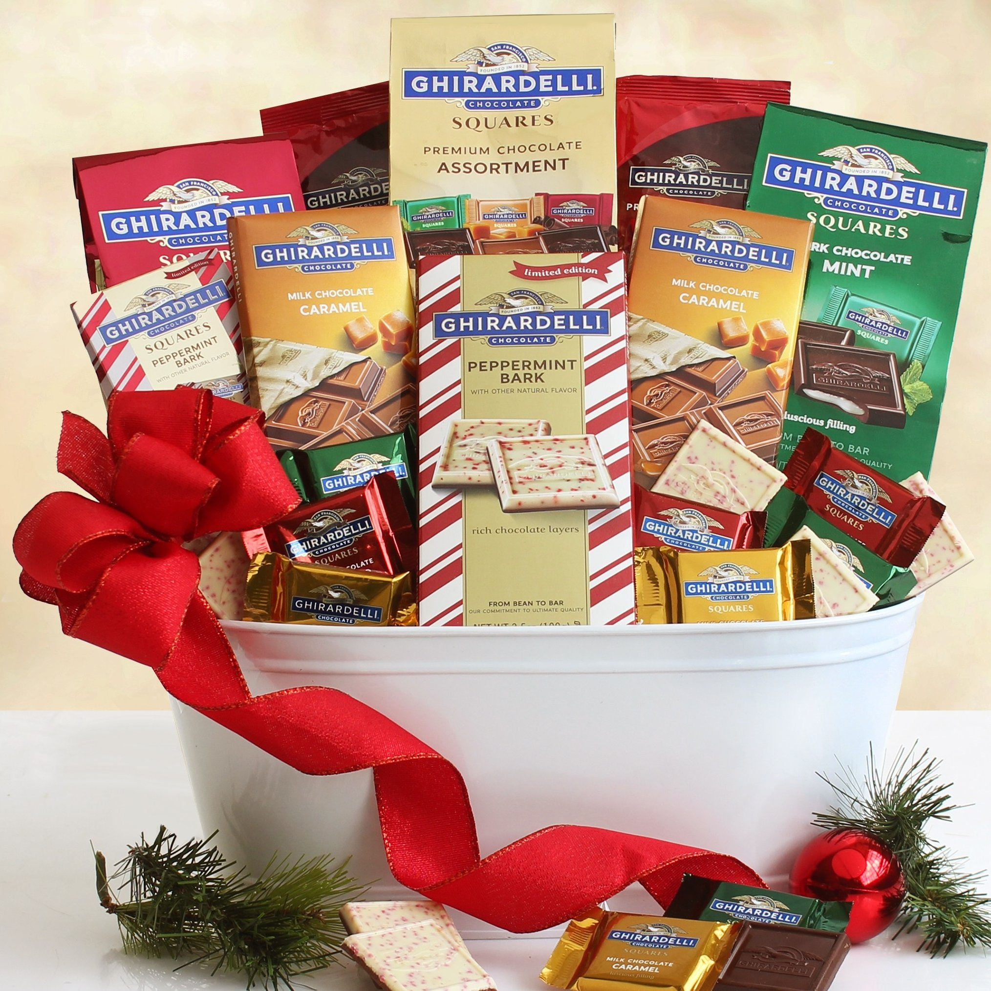 Image 0 of Ghirardelli Holiday Dream: Chocolate Gift Basket