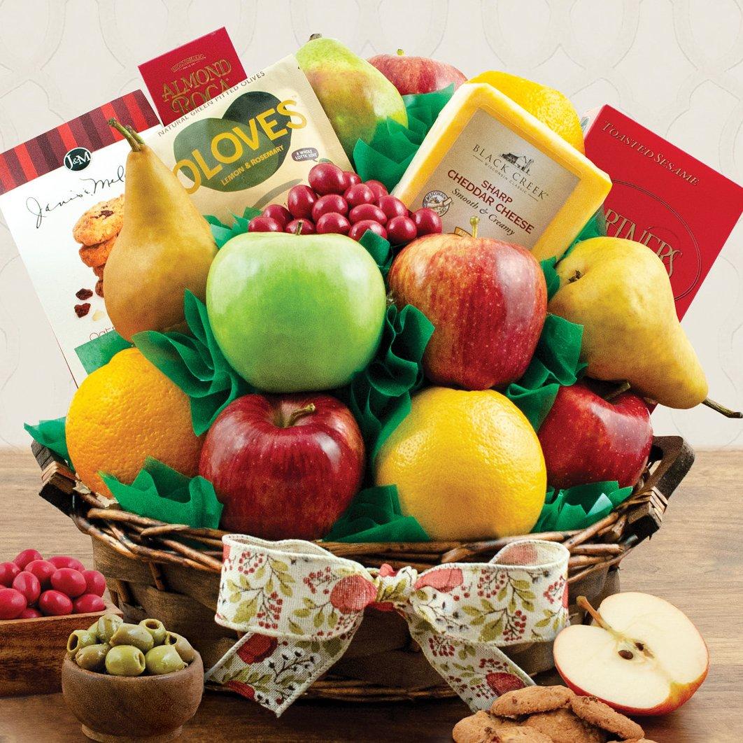 Image 0 of Garden Fresh: Fruit & Snacks Gift Basket